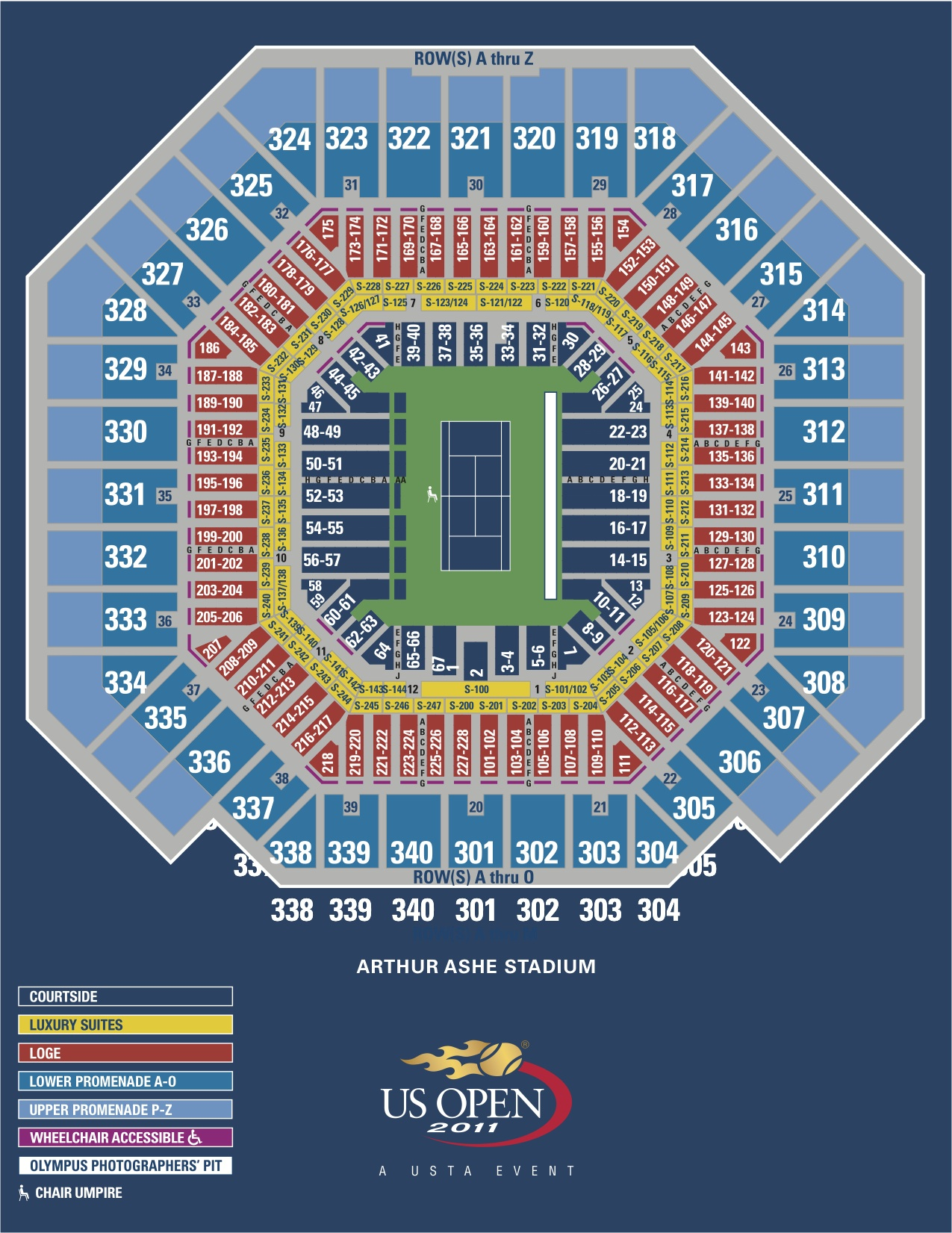 rod laver arena seating guide