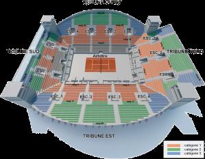 Roland Garros Location In Paris Map.Seating Maps Open Tennis